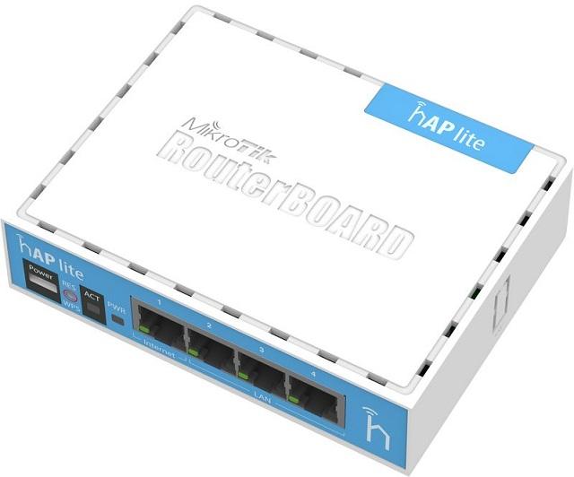 WiFi Hotspot Router Mikrotik RB941-2nD (hAP lite classic)